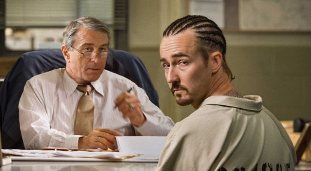"Robert De Niro and Edward Norton in Overture Films' ""Stone."""